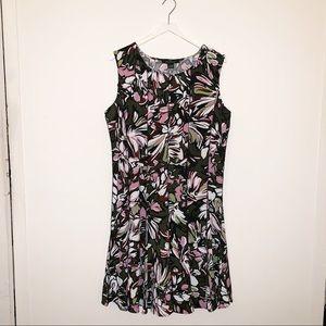 Fun & Flirty Abstract Print Floral Print Dress